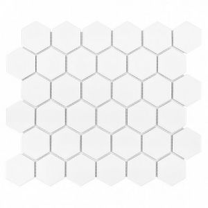 Hexagon White 51 matt Płytka ceram 51 x 58 x 6: 320 x 280