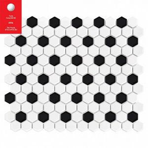 Mini HEXAGON B&W Mix Płytka gres 23x26x7X300x260